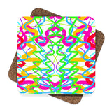 """ Confetti"" Square Hardboard Coaster Set - 4pcs"
