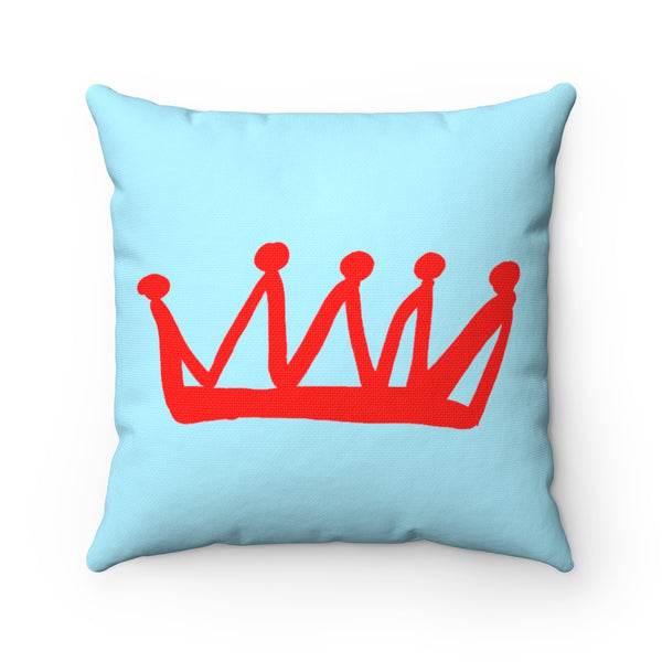 """ Crown"" Spun Polyester Square Pillow"