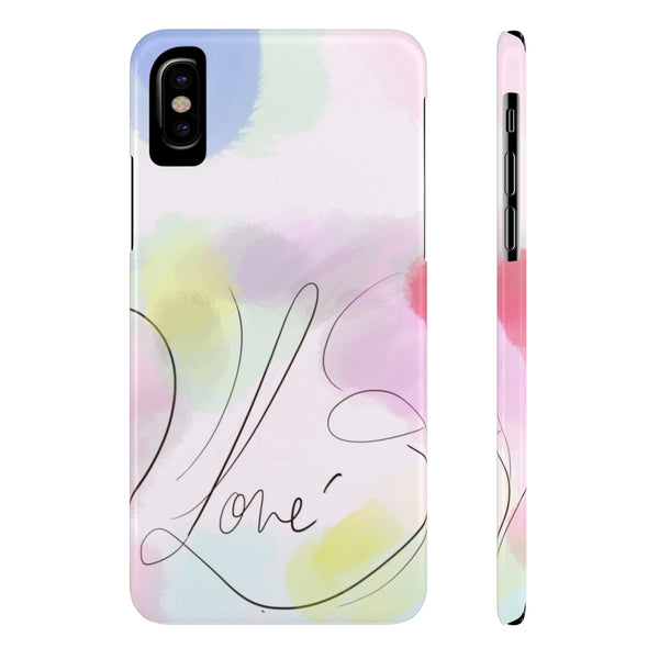 """Watercolor me Love"" Slim Phone Cases"