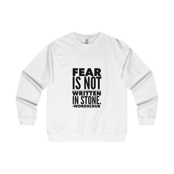 """Fear is not written in stone"" Men's Midweight Crewneck Sweatshirt"