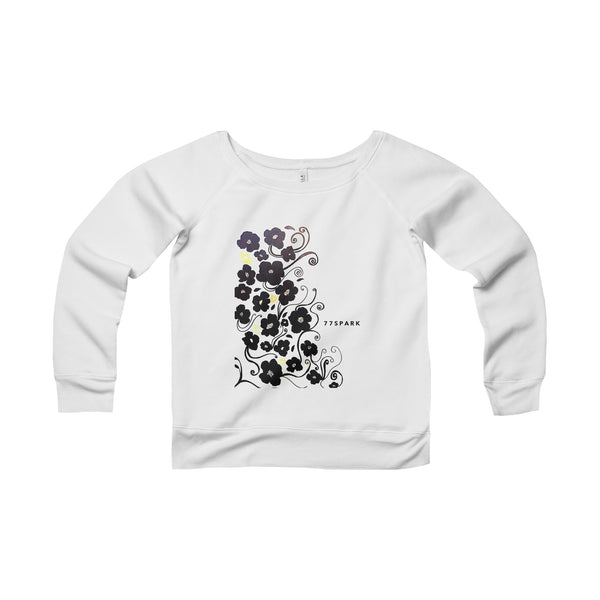 """ Let it flow"" Women's Sponge Fleece Wide Neck Sweatshirt"