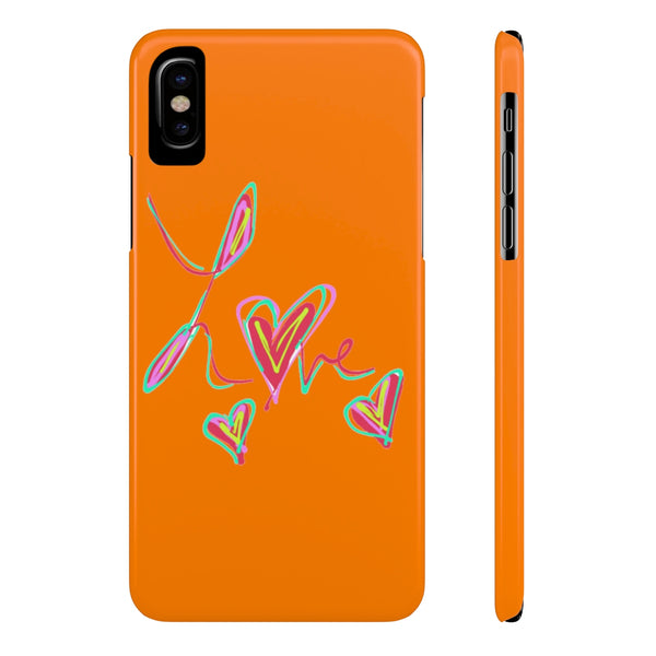 """ Neon Love""  Slim Phone Cases"