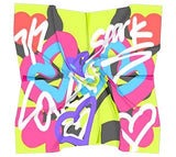"""Love"" Graphic Square Scarf"