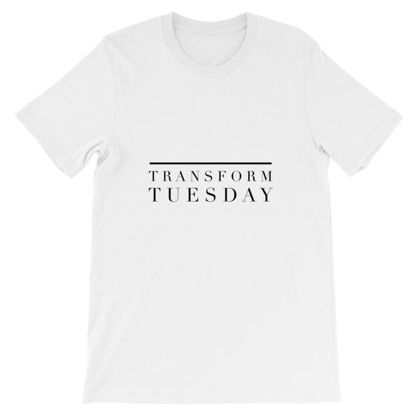 """ Transform Tuesday"" Unisex short sleeve t-shirt"
