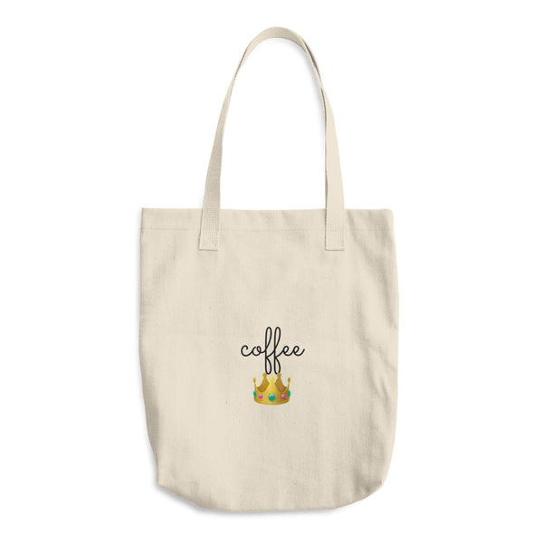 """ Coffee Queen"" Cotton Tote Bag"