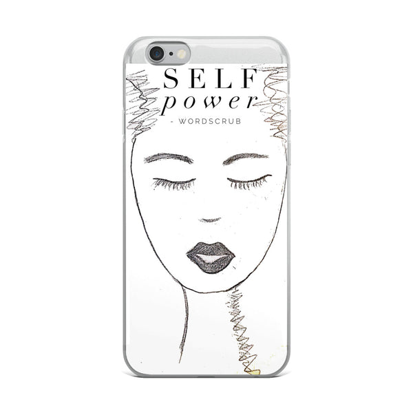 """ Self power"" iPhone 5/5s/Se, 6/6s, 6/6s Plus Case"