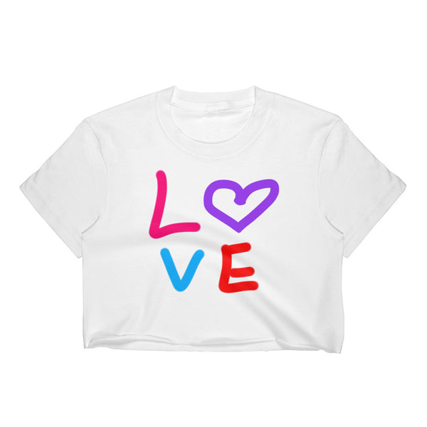 """ Love "" Women's Crop Top"