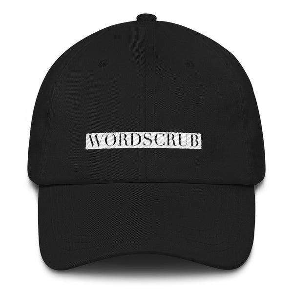 """ WordScrub"" Dad hat"