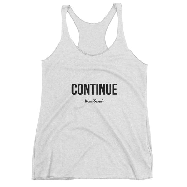 """ Continue "" Women's tank top"