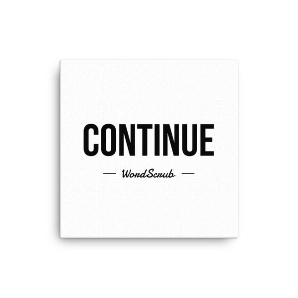 """ Continue "" Canvas"