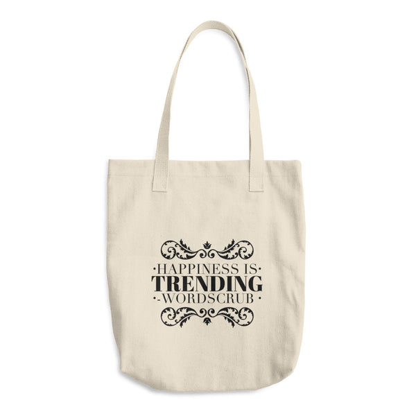 Happiness is trending cotton tote bag