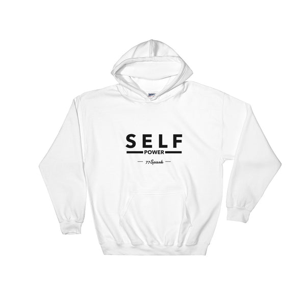 """ Self power"" Hooded Sweatshirt"