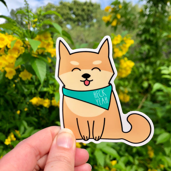 Vinyl Sticker: Heck Yeah Doggo