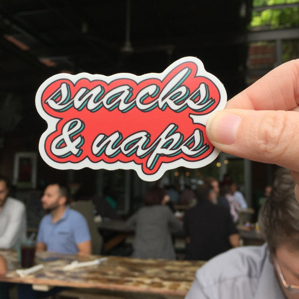 Vinyl Sticker: Snacks & Naps
