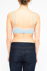 LA Rose lace bra light blue