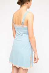 LA Rose lycra petticoat light blue