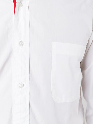 THOM BROWNE contrast fastening shirt