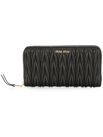 MIUMIU Matelassé zip around wallet