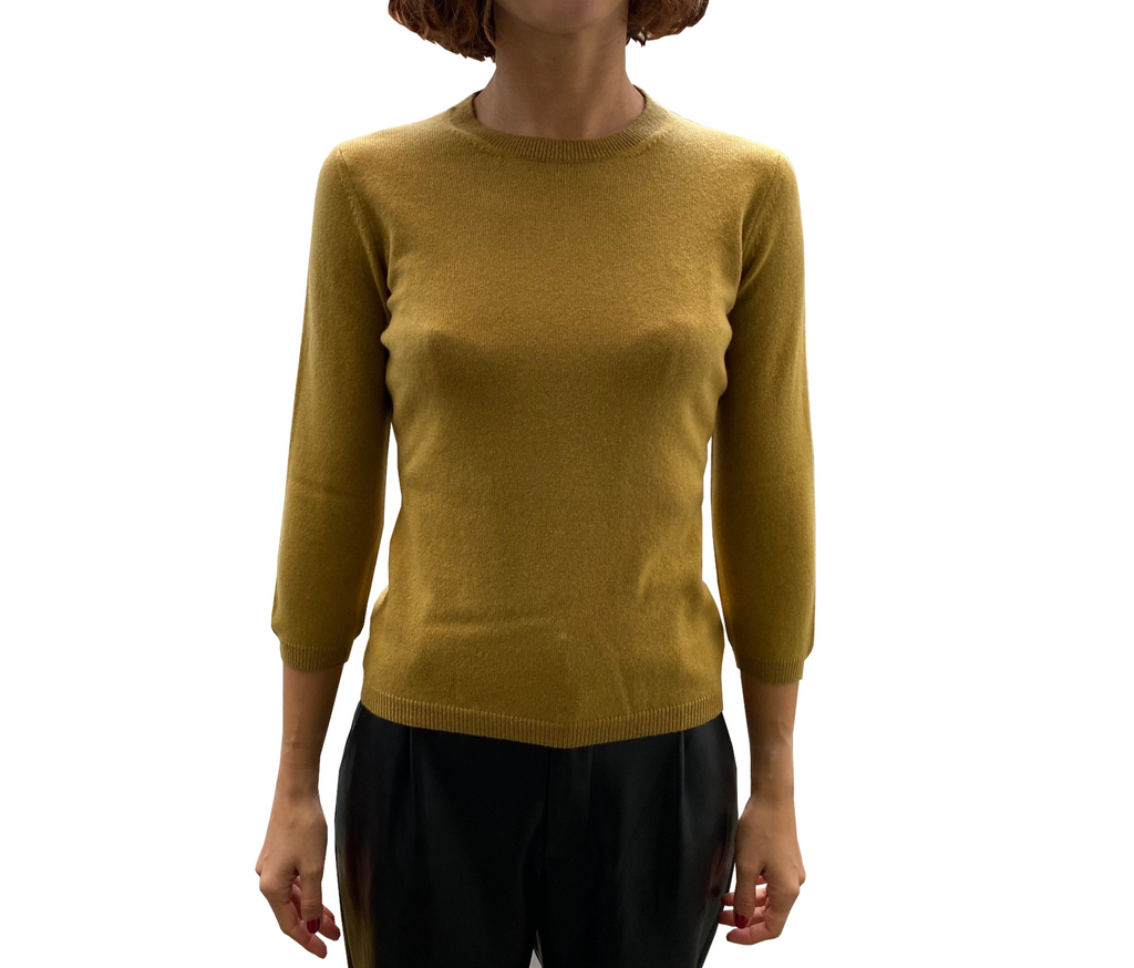 LA ROSE 3/4 knitwear yellow