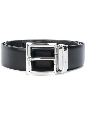 Prada man belt black+black