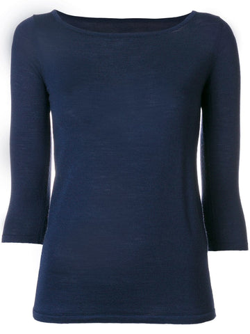 SOTTOMETTIMI 3/4 sleeve top navy