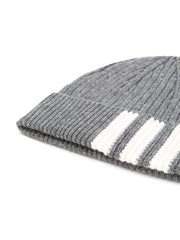 THOM BROWNE 4-Bar Stripe Cashmere Rib Hat