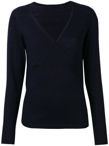REXPECT V-neck wrap sweater