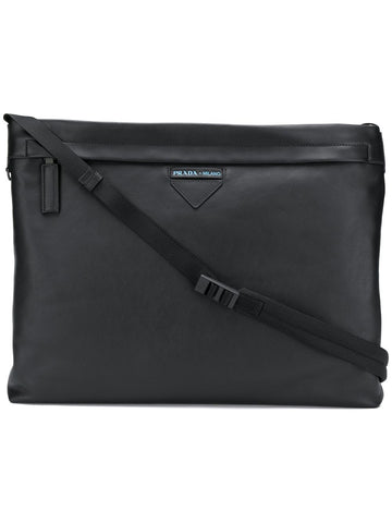 PRADA top zip square shoulder bag