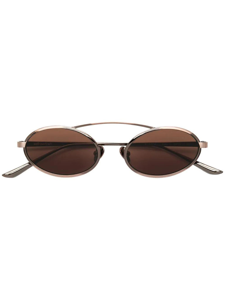 SELF-PORTRAIT jamie Bronze frame sunglasses Bronze