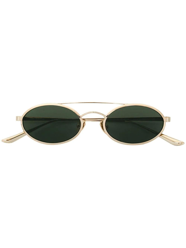SELF-PORTRAIT layla gold frame sunglasses Metal