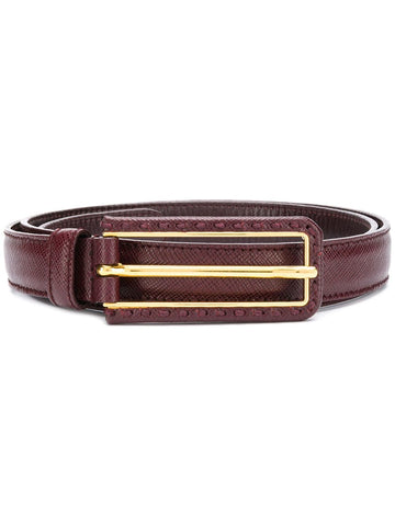 PRADA Brown logo belt
