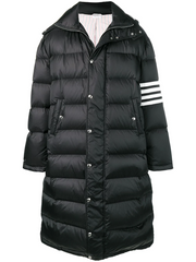 THOM BROWNE 4-bar Oversized Long Bomber Jacket