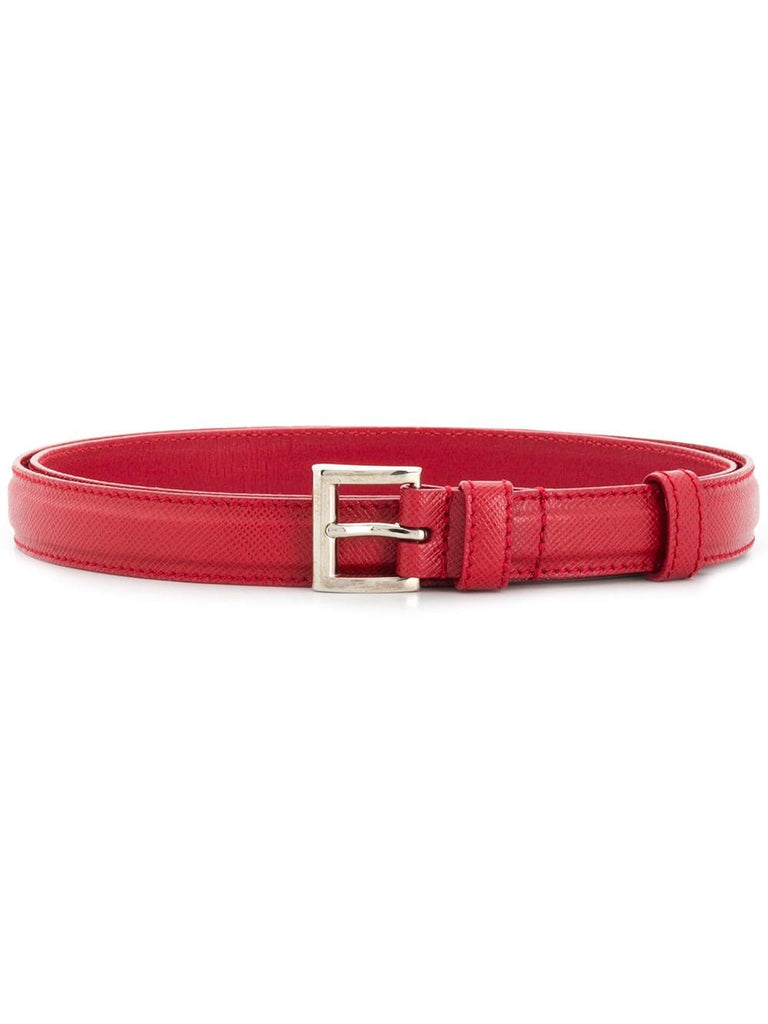 PRADA Square buckle Saffiano belt