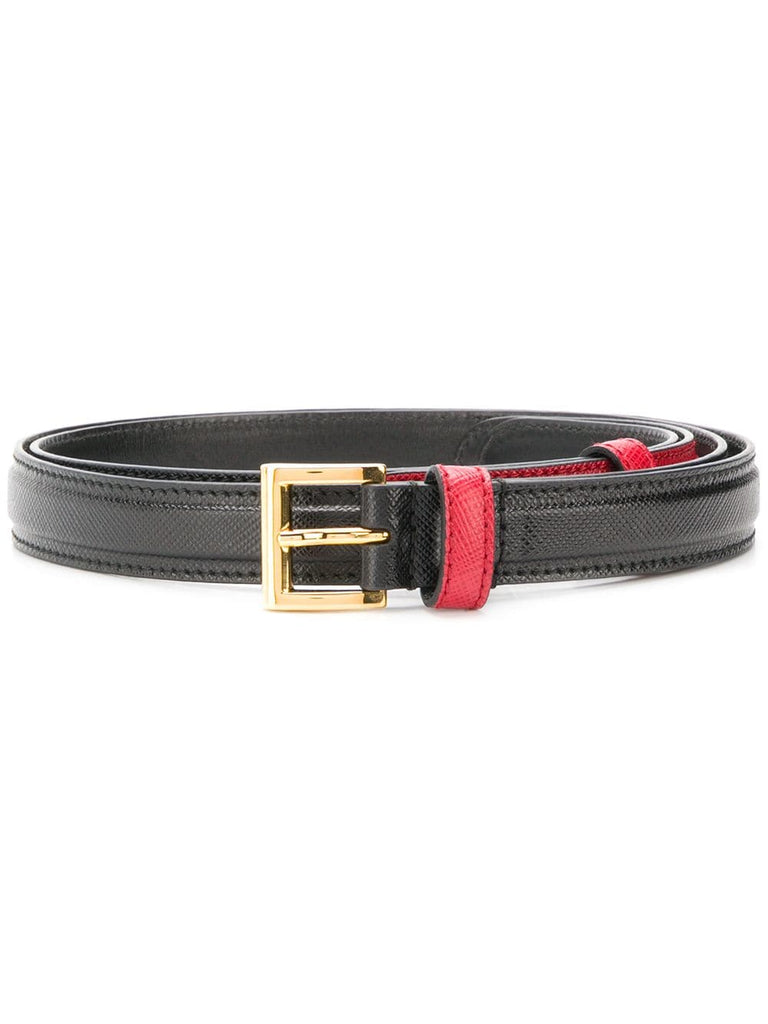 PRADA Two tone buckle belt