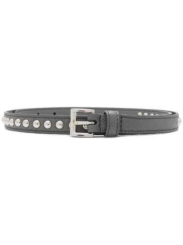PRADA Stud detail belt grey