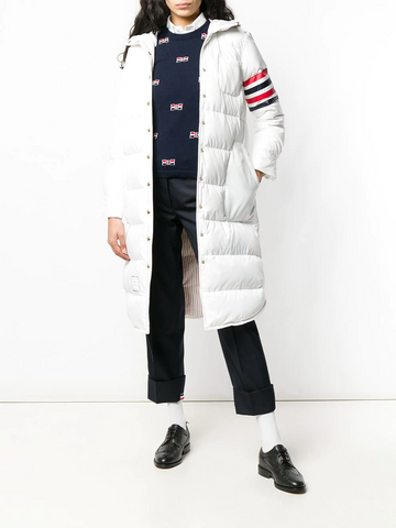 THOM BROWNE 4-Bar Down Filled Shirtdress