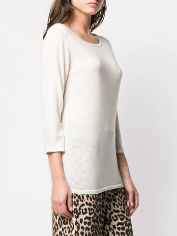 SOTTOMETTIMI 3/4 sleeve top white
