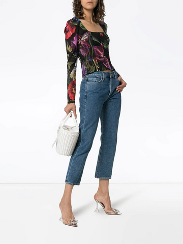 DOLCE & GABBANA Voile floral print top