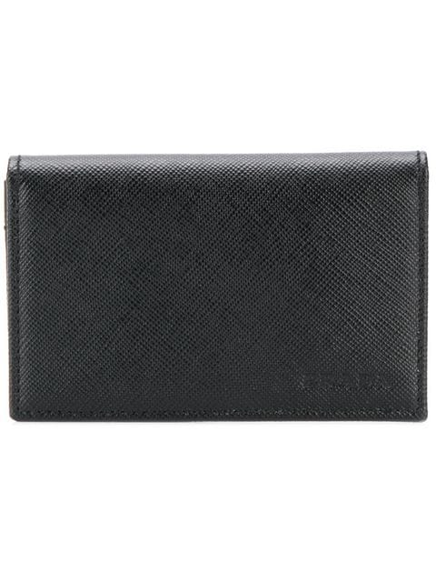 PRADA Snap fastening card holder