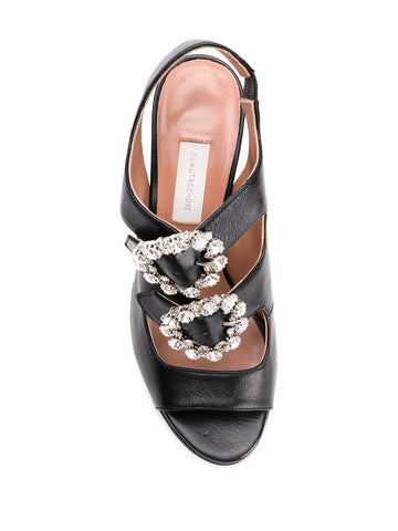 L'AUTRE CHOSE Crystal buckle sandals