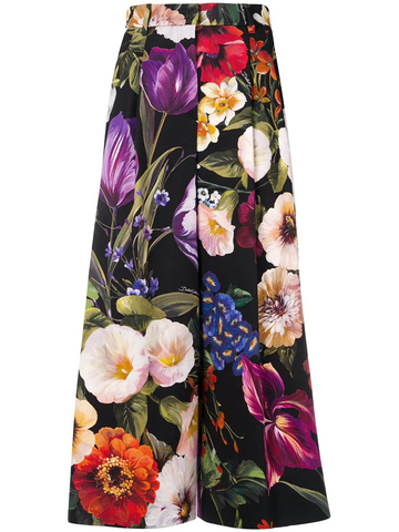 DOLCE & GABBANA floral print culottes