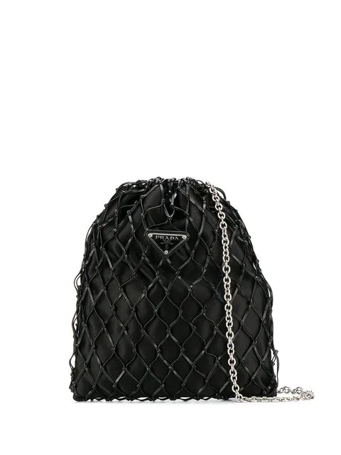 PRADA logo netted bag