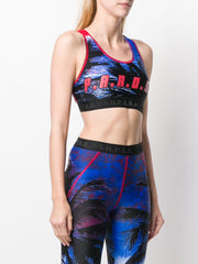 PAROSH logo print cropped top