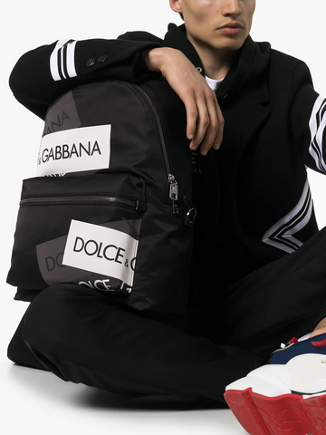 DOLCE&GABBANA Volcano logo tape backpack