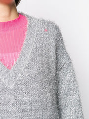 MSGM embroidered metallic jumper