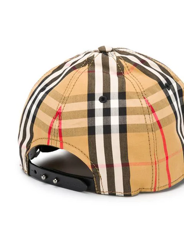 BURBERRY plaid cap