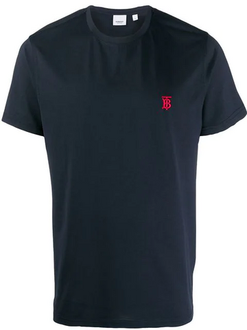BURBERRY embroidered Monogram motif T-shirt