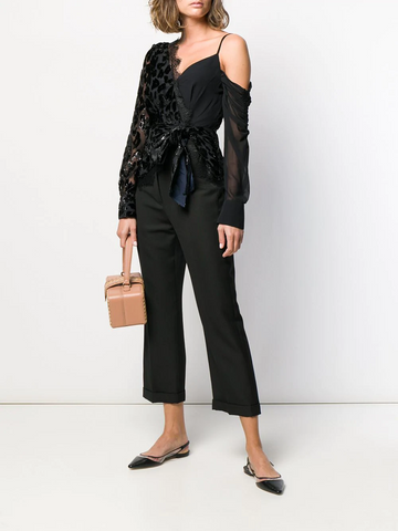 SELF PORTRAIT asymmetric wrap top