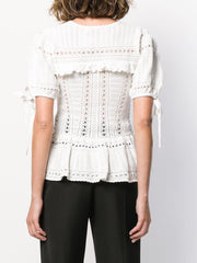 SELF PORTRAIT knitted peplum top