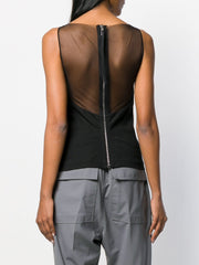 RICK OWENS sheer-panelled crepe blouse